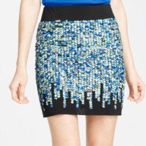 Ann Taylor cloth sequin black mini skirt